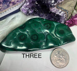 Malachite bullseye free forms - Angel Eyes Shop