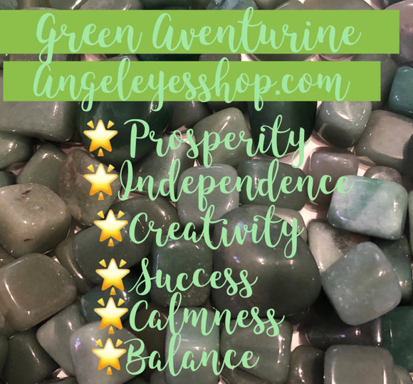 Green aventurine tumble - Angel Eyes Shop