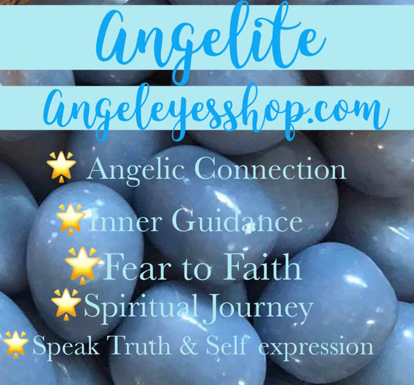 Angelite Tumbles - Angel Eye Spiritual Shop