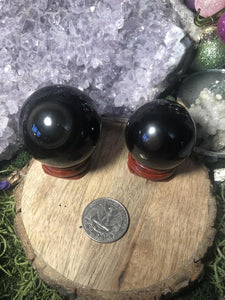 Rainbow obsidian spheres - Angel Eyes Shop