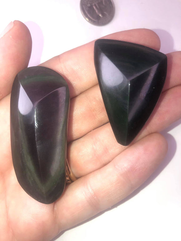 Rainbow obsidian freeforms - Angel Eyes Shop
