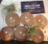 Hematoid Quartz Spheres - Angel Eyes Shop