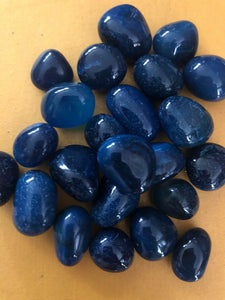Blue onyx tumbles - Angel Eyes Shop