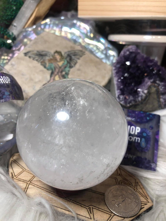 Clear quartz spheres - Angel Eyes Shop