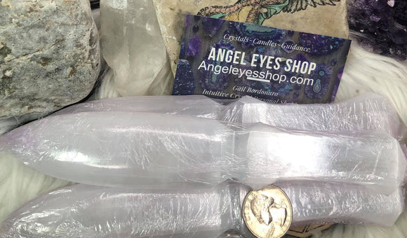 Selenite aka satin spar carved daggers - Angel Eyes Shop