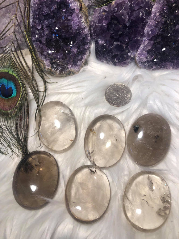 Smoky quartz palm stone - Angel Eye Spiritual Shop