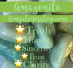 Amazonite tumbles - Angel Eye Spiritual Shop