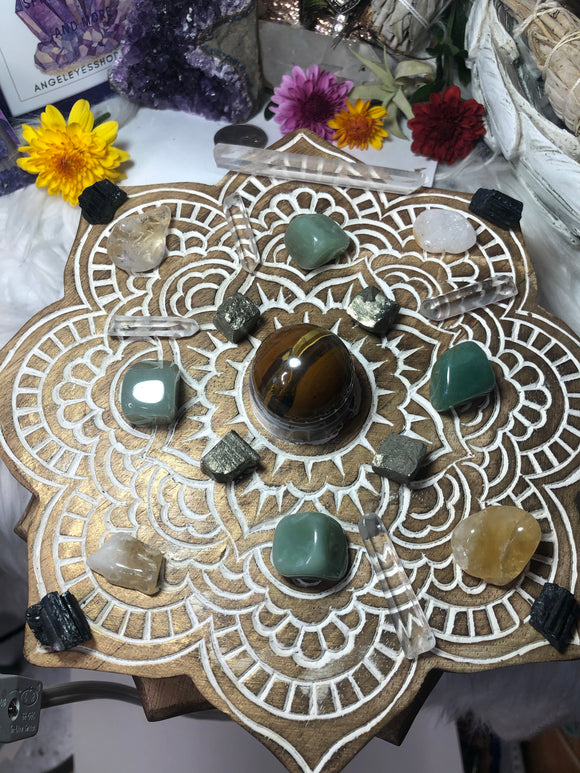 Prosperity grid set with storage box - Angel Eyes Shop