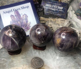 Chevron amethyst handmade sphere - Angel Eyes Shop