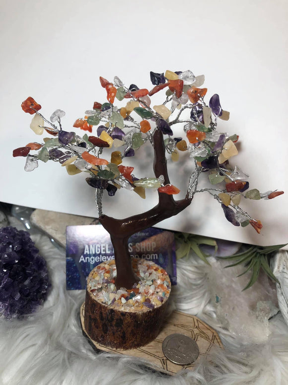 Mixed agate gemstone tree - Angel Eyes Shop