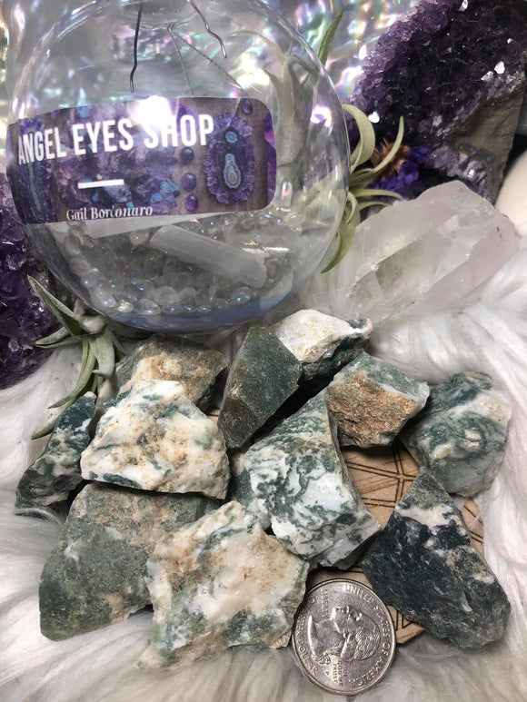Tree agate rough - Angel Eyes Shop