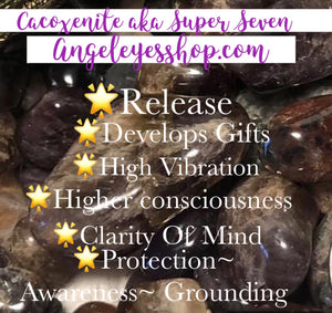 Super seven aka cacoxenite tumbles - Angel Eyes Shop