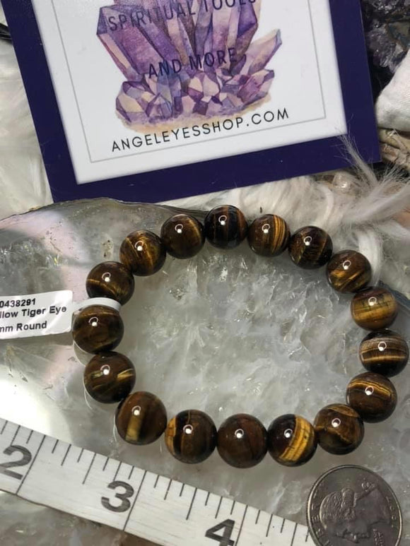 Tiger eye 12MM bracelet - Angel Eyes Shop