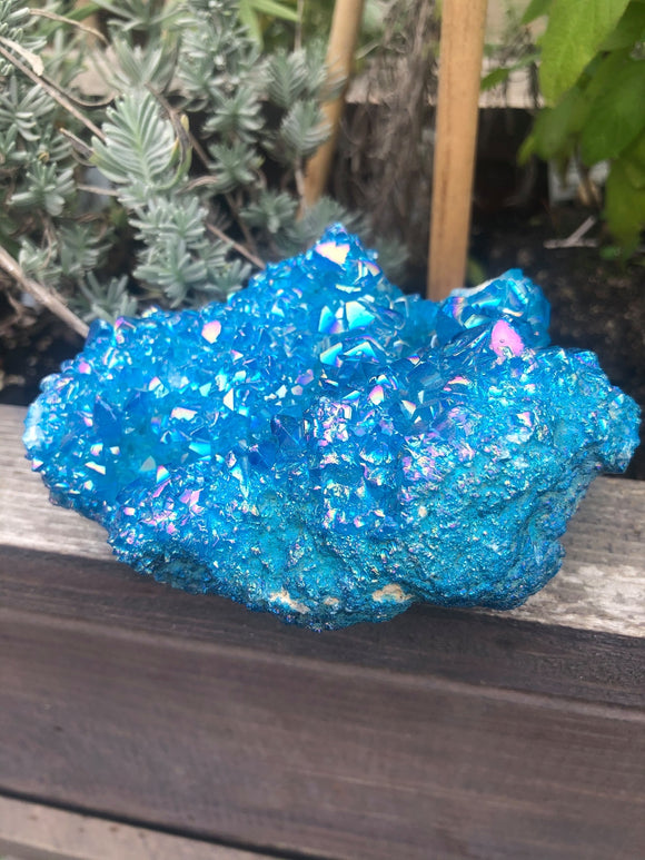 Aqua Aura titanium quartz large cluster - Angel Eyes Shop