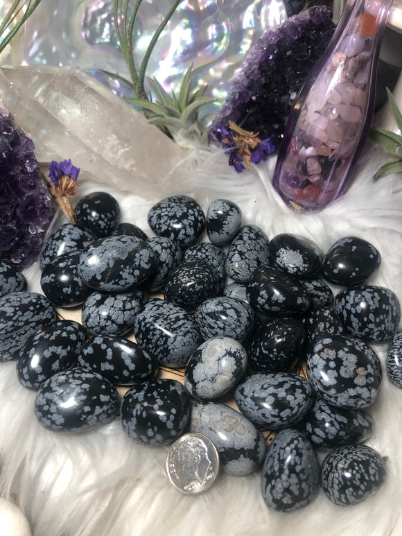 Snowflake Obsidian Tumble - Angel Eyes Shop