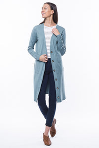 Sage Double Front Pocket Cardigan