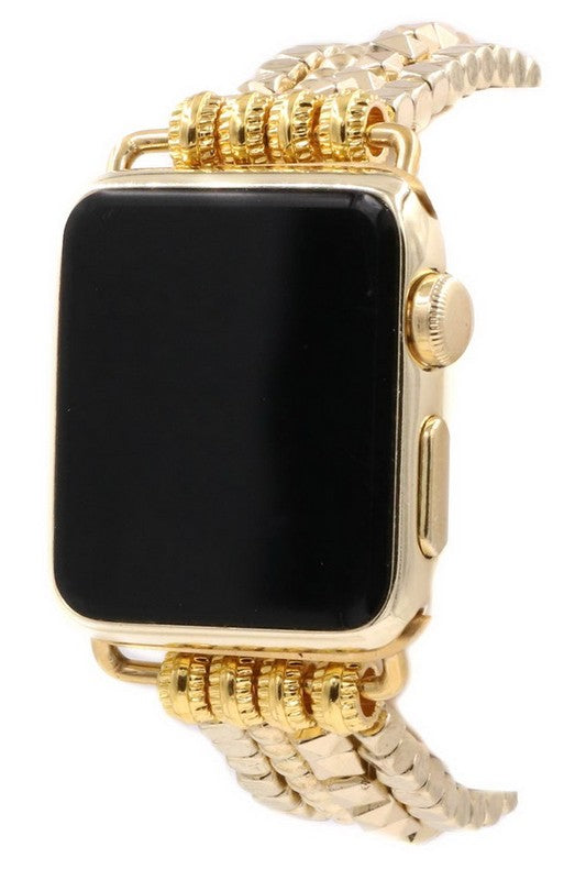 Layered Metal Bead Apple Watch Band