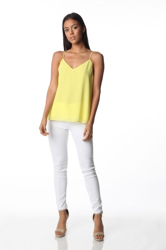 Yellow Back Detail Tank