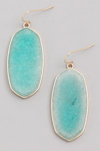 Mint Blushing Gem Stone Earring
