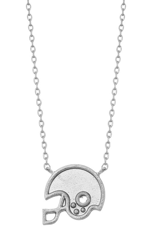 Silver Football Necklace