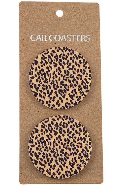 Leopard Ceramic Car Coasters