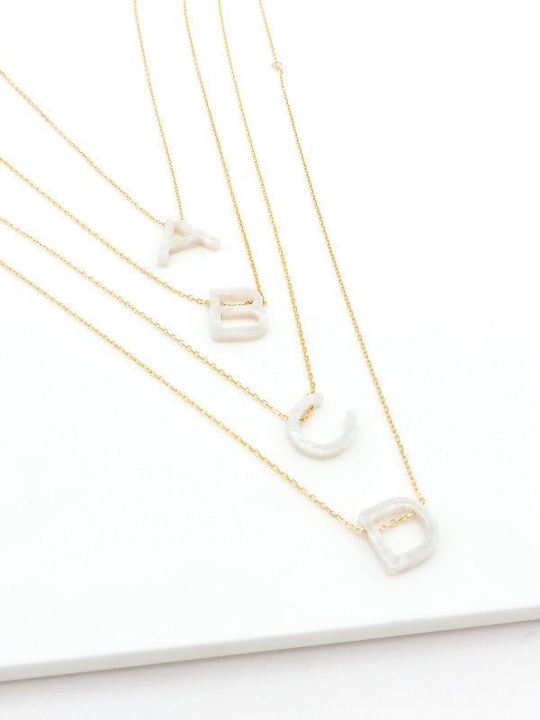 Luxe Opal Initial Pendant Necklaces
