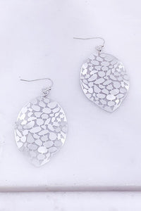Worn Silver Warped Earring