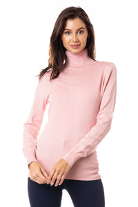 Dusty Pink Pull Over Turtleneck