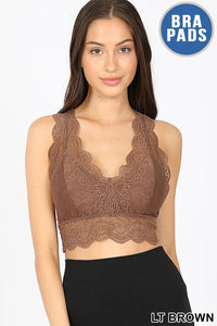 Light Brown Lacy Bralette