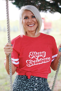 Merry Christmas Jersey Tee