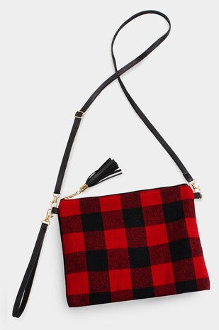 Buffalo Check Crossbody/Clutch