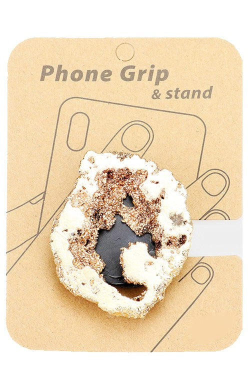 Gold Druzy Stone Phone Grip
