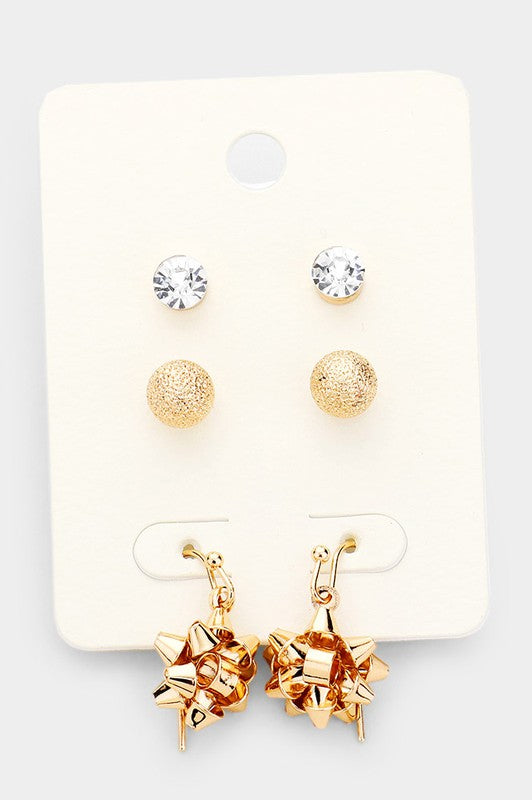 Christmas Earring Trio
