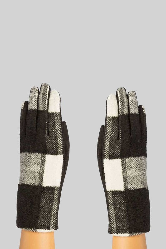 White Buffalo Plaid Gloves