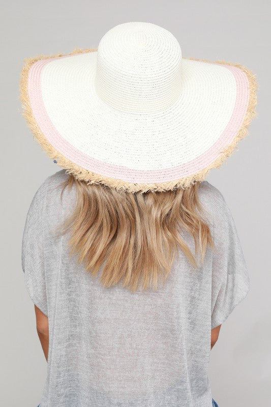 Rose Round Up Frayed Sun Hat
