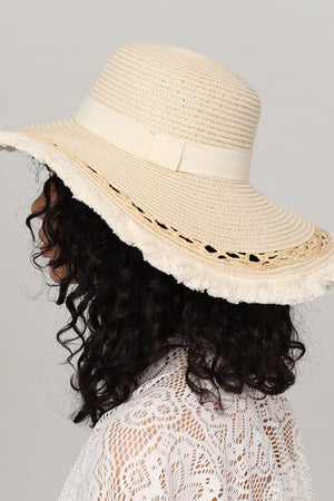 Straw Brushed Up Sun Hat