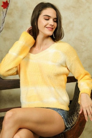 Yellow Tie Dye Sweater