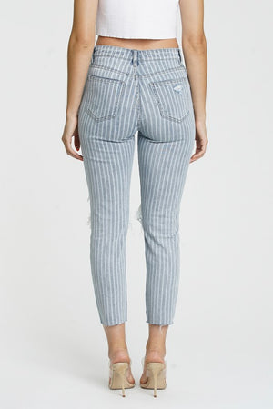Tobi Stripe High Waist Mom Jean Eunina
