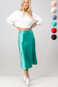 Satin Mid Skirt