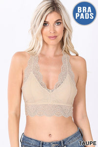 Taupe Lacy Bralette