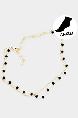 Bead Link Layered Anklet