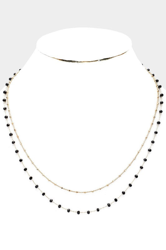 Beaded Layered Collar Necklace