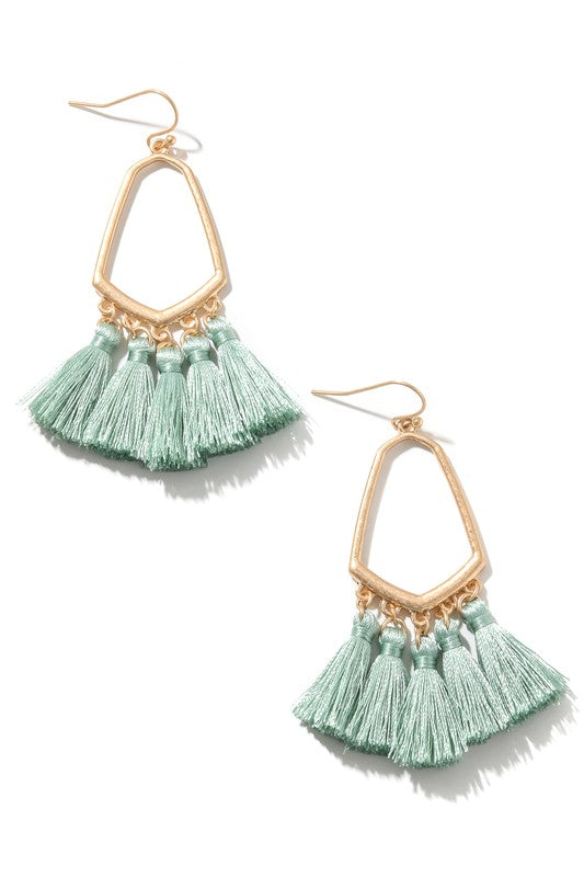 Mini Tassel Dangle Hook Earrings