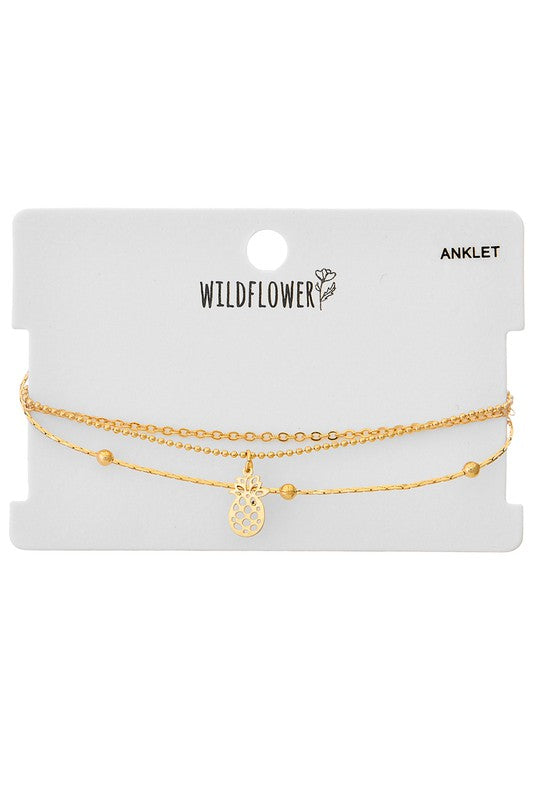 Multi Layered Charm Anklet