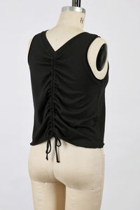 Ruching Back Jersey Tank