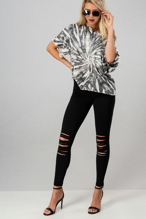Plus Laser Cut Leggings