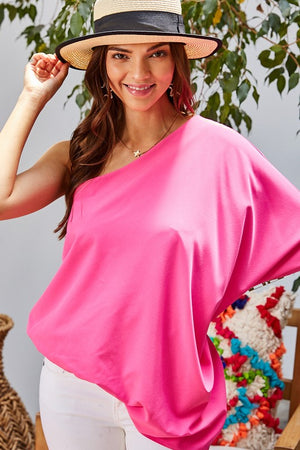 One Shoulder Sleeve Unbalance Top