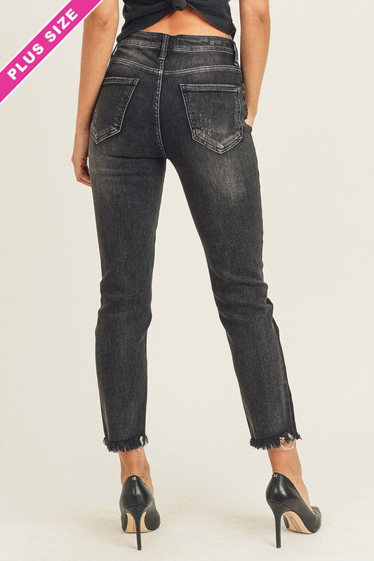 Plus Risen Bottom Shaded Vintage Relaxed Fit Denim