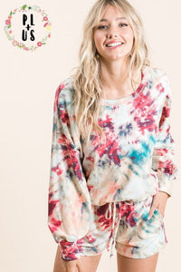 Plus Tie Dye Lounge Set