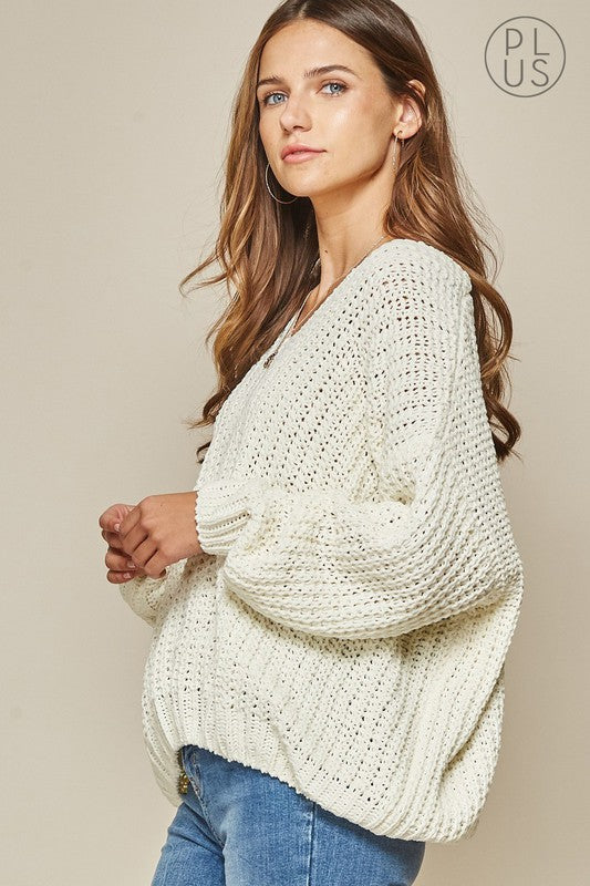 Ivory Knit Sweater